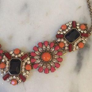 J. Crew Jewelry - J. Crew Navy Pink Gold Necklace (Jewelry bag incl)